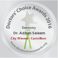 Dr. Adnan Saleem - Award Winner Badge