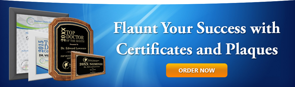 Flaunt your success with Certificates and Plaques