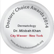 Misbah Khan, MD, FAAD – MKhan Dermatology - Award Winner Badge