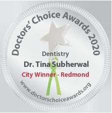 Dr. Tina Subherwal - Award Winner Badge
