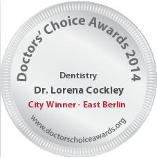 Lorena Cockley, DDS, FAGD - Award Winner Badge