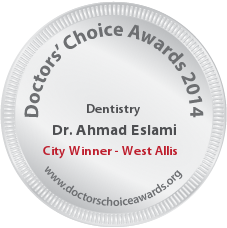 Ahmad Eslami, DMD, MS - Award Winner Badge