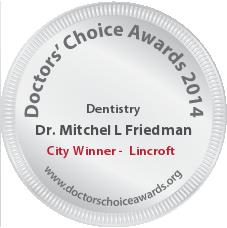 Mitchel L Friedman, DDS - Award Winner Badge