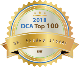 Dr. Farhad Sigari - Award Winner Badge